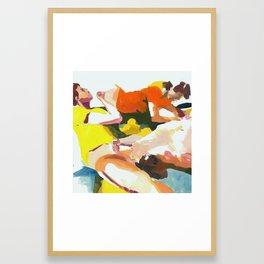 Piles Framed Art Print