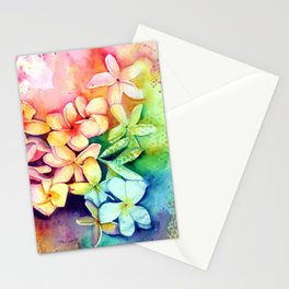 Aloha Plumeria Blossoms Stationery Cards