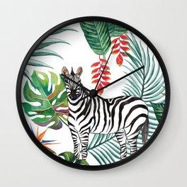 Nature Zebre pattern Wall Clock