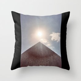 Sun and Pyramid Throw Pillow