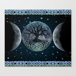 Esoteric Tripple Moon Canvas Print