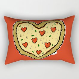 Valentines Day Pizza Pizza Rectangular Pillow