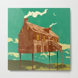 RIVER HOUSE Metal Print