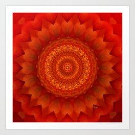 Muladhara chakra mandala Art Print