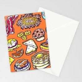 Orange Breakfast Stationery Cards