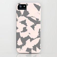 Pastel Pink Bird Wings on Grey iPhone (5, 5s) Slim Case