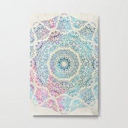 Watercolor Mandala Metal Print