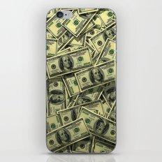 100 dollar cash get rich iPhone & iPod Skin