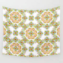 Starflower Blossoms Wall Tapestry