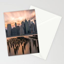 New york city long exposure Stationery Cards