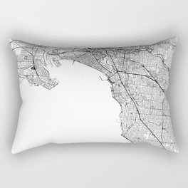 Melbourne White Map Rectangular Pillow