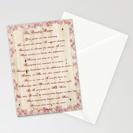 12 Step Serenity Prayer Stationery Cards