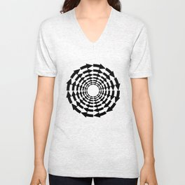 Arrows in a circle Unisex V-Neck