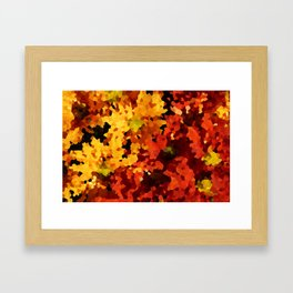 Yellow and Red Sunflowers Framed Art Print