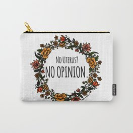 No Opinion (Wreathed) - Vintage Carry-All Pouch