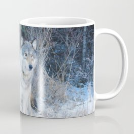 Grey Wolf in the Canadian Rocky Mountains Coffee Mug