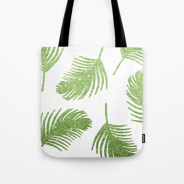 Glitter Palm Leaves Tote Bag