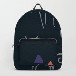 Gatos y hongos Backpack