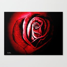 The Black Rose Red Canvas Print