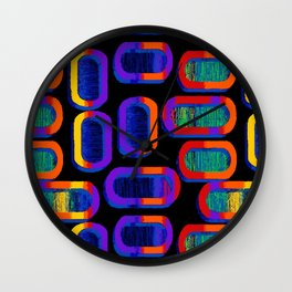 90's Tic Tac Pattern Wall Clock