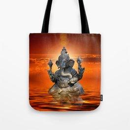Elephant God Ganesha Tote Bag