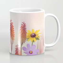 Variety of colorful flowers in the garden Coffee Mug