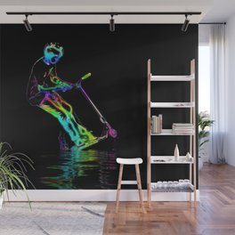 Puddle Jumping - Scooter Boy Wall Mural