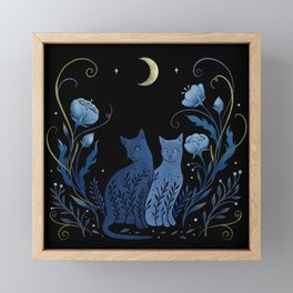 Two Cats Framed Mini Art Print