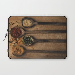 Spoons filled with spices Laptop Sleeve