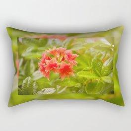 Rhododendron called Azalea red flowers Rectangular Pillow