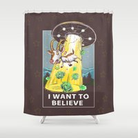 i want to believe Shower Curtains featuring i want to believe by Tatyana Soynikova