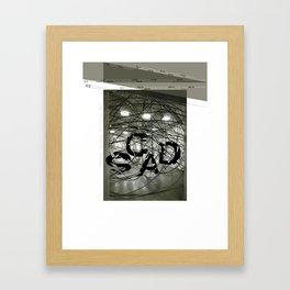Fragmentation Poster Framed Art Print