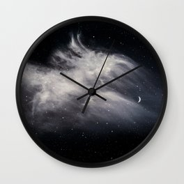 Moon and Clouds Wall Clock