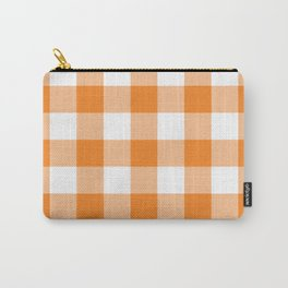 Orange Gingham Pattern Carry-All Pouch