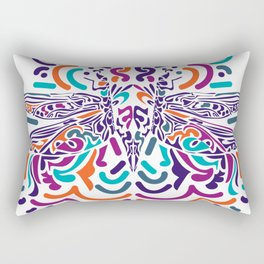 Colorful Fly Rectangular Pillow