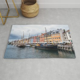 Nyhavn waterfront in Copenhagen Rug