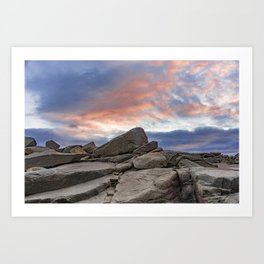 Granite Sunset Art Print