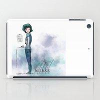 nurse iPad Cases featuring Nurse  by Ginkelmier