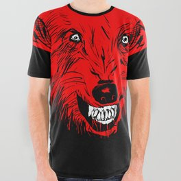 Slow Wolfpack All Over Graphic Tee