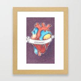 Breakable Heart Framed Art Print