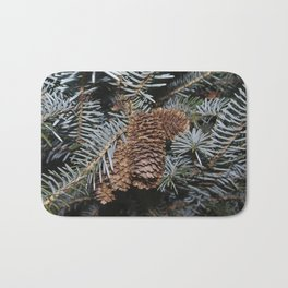 Spruce Cones And Branches Bath Mat