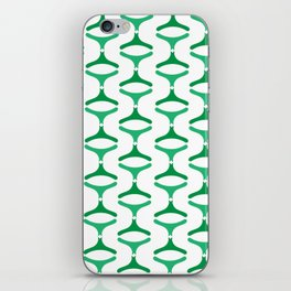 Negative Waves: Shades of Green iPhone Skin