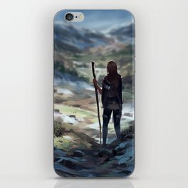Stick saleswoman goes on an adventure! iPhone Skin