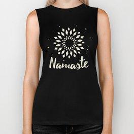 Namaste Mandala Flower Power Biker Tank