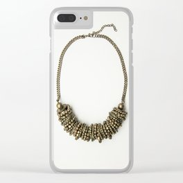 Mongolian gold necklace Clear iPhone Case