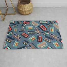 Retro Music Pattern Rug
