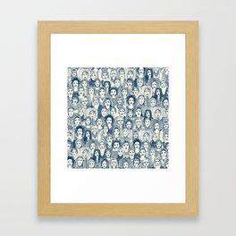 WOMEN OF THE WORLD BLUE Framed Art Print