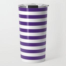 Purple and white university clemson alumni team sports football college Travel Mug