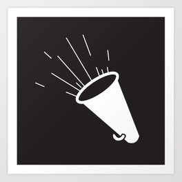 Nautical Megaphone Art Print
