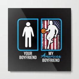 American Basketball Player Boyfriend Metal Print